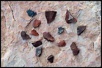 Close-up of arrowheads. Bears Ears National Monument, Utah, USA ( )