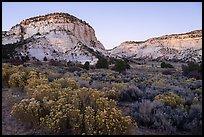 Johnson Canyon at dusk. Grand Staircase Escalante National Monument, Utah, USA ( )