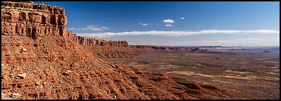 Valley of the Gods from the Moki Dugway. Bears Ears National Monument, Utah, USA (Panoramic )