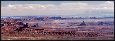 Distant view of Valley of the Gods. Bears Ears National Monument, Utah, USA (Panoramic )