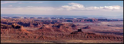 Valley of the Gods from above. Bears Ears National Monument, Utah, USA (Panoramic )