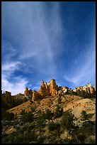 Hoodoos and clouds, Red Canyon, Dixie National Forest. Utah, USA ( color)