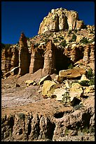 Tall multicolored cliffs, Burr Trail, Grand Staircase Escalante National Monument. Utah, USA (color)