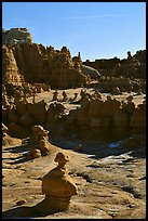 Goblins, early morning, Goblin Valley State Park. Utah, USA ( color)