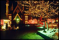 Temple Square with Christmas lights,Salt Lake City. Utah, USA