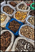 Close-up of dried foods in bags, Duong Dong. Phu Quoc Island, Vietnam