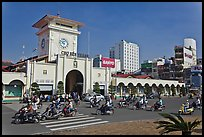 Eastern Gate, Ben Thanh Market, morning. Ho Chi Minh City, Vietnam ( color)
