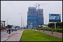 High rise buidings in construction, Phu My Hung, district 7. Ho Chi Minh City, Vietnam (color)