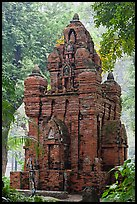Small-scale model of Cham tower, Tao Dan Park. Ho Chi Minh City, Vietnam ( color)