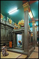 Worshipping inside Mariamman Hindu Temple. Ho Chi Minh City, Vietnam ( color)