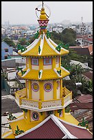 Back tower, Saigon Caodai temple, district 5. Ho Chi Minh City, Vietnam (color)