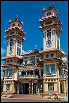 Great Temple of Cao Dai facade. Tay Ninh, Vietnam (color)