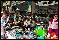 Vendors in Ben Thanh market. Ho Chi Minh City, Vietnam ( color)