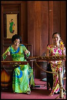 Traditional musicians, Temple of the Litterature. Hanoi, Vietnam (color)