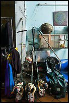 Objects used for water puppetry, Thang Long Theatre. Hanoi, Vietnam (color)