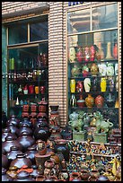 Storefront with ceramic vases. Bat Trang, Vietnam ( color)