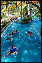 Inner tubing, Dam Sen Water Park, district 11. Ho Chi Minh City, Vietnam ( color)