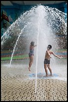 Children in fountain, Dam Sen Water Park, district 11. Ho Chi Minh City, Vietnam ( color)