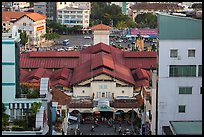 Ben Thanh covered market from above. Ho Chi Minh City, Vietnam ( color)