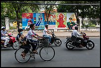 Bicycle and motorbikes. Ho Chi Minh City, Vietnam
