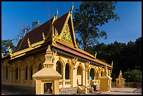 Ang Pagoda in Khmer style. Tra Vinh, Vietnam (color)