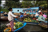 Floating market, Phung Diem. Can Tho, Vietnam (color)