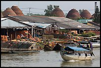 Riverside brick ovens. Sa Dec, Vietnam (color)