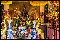 Altar of King Hung Vuong temple, Tao Dan park. Ho Chi Minh City, Vietnam ( color)