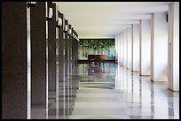 Corridor, piano, and reflections, Reunification Palace. Ho Chi Minh City, Vietnam ( color)