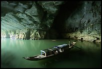 Boat inside the cave, Phong Nha Cave. Vietnam