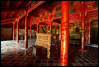 Main room of the temple inside the Minh Mang Mausoleum. Hue, Vietnam ( color)