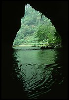 The Nang River passes through a cave. Northeast Vietnam (color)