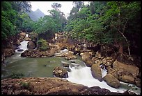Dau Dang cascades of the Nang River. Northeast Vietnam