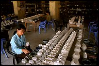 Ceramics factory, Bat Trang. Bat Trang, Vietnam ( color)