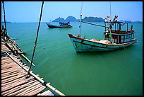 Fishing boats in the China sea. Hong Chong Peninsula, Vietnam