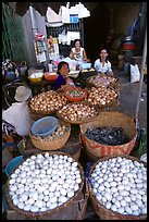 A variety of eggs for sale, district 6. Cholon, Ho Chi Minh City, Vietnam