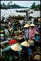 Phung Hiep floating market. Can Tho, Vietnam