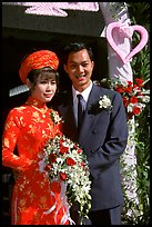 Just married couple, Ho Chi Minh city. Vietnam ( color)