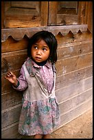 Girl of minority village, near Dalat. Vietnam (color)