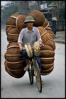 How large a load can you have on  a bicycle ?  On the way to the Perfume Pagoda. Vietnam