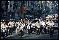 Traffic: there are 2 million motorcycles and the number of cars is growing everyday. Ho Chi Minh City, Vietnam