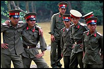 Soldiers performing a long  military service. Mekong Delta, Vietnam (color)