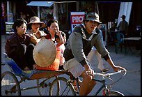 Xe Loi, a variety of cyclo used only in that area. Mekong Delta, Vietnam (color)