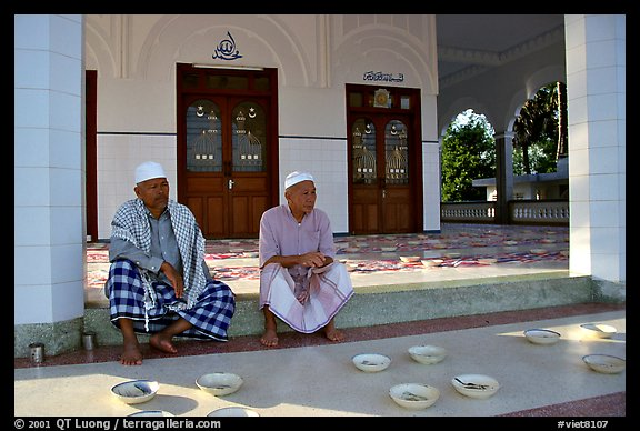 Mosque in Cham minority village.. Chau Doc, Vietnam
