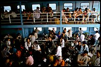 Inside a ferry on the Mekong river. My Tho, Vietnam ( color)