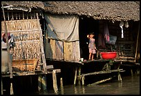 Housing at the edge of the canal, Phung Hiep. Can Tho, Vietnam