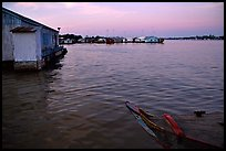 Floating houses. They double as fish reservoirs. Chau Doc, Vietnam