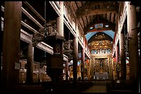 Interior of  Phat Diem cathedral, built in chinese architectural style. Ninh Binh,  Vietnam