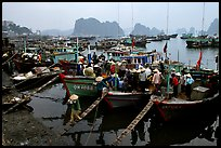 Harbor in Hong Gai. Halong Bay, Vietnam (color)