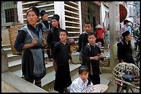 Hmong people at the market. The Hmong constitue the largest hill tribe (ethnic minority). Sapa, Vietnam ( color)